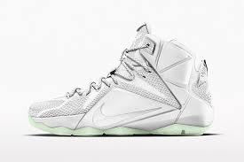 lebron james shoes all white. all-white nike lebron 12s, lebron james shoes all white