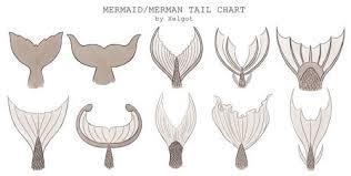 Xelgot Mermaid Merman Tail Chart By Xelgotthis Chart Was