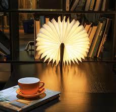Mood Lamp Book Light Luminate Led Folding Wooden Light Book Lamp Award Winning