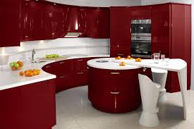 High Gloss Kitchen Floor Tiles Living Room Modern Contemporary Kitchen Cabinet Design With Red