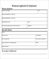 Sample Generic Application For Employment Adorable 48 Job Application Form Templates Free Premium Templates