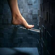 shower shaving pedestal corner foot rest for in chrome the by bathrooms ideas ch shower shaving