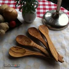 details about 4 x olive wood spoon set spoon set wood tablespoon vegetable spoon serving spoon