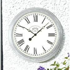 big outdoor pool clock and thermometer