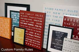 family rules canvas wall art luxury family canvas wall art personalized family canvas print