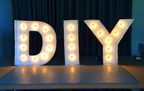diy lighting design. Delighful Lighting 8 Steps To DIY Marquee Letters And Diy Lighting Design D