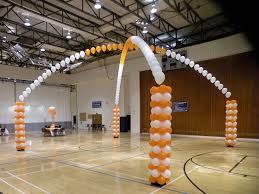 decorating a gymnasium ceiling | Transform a gym into a fun place to party!  | School dance decorations, Homecoming decorations, Rally idea