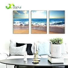 3 panel canvas art beach wall art 3 panel canvas art printed blue sea painting wall art picture modern beach