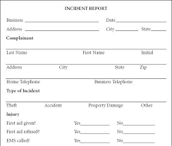 Free Incident Report Template Word Inspirational Accident Form