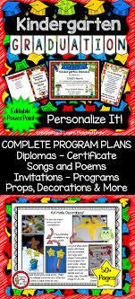 Graduation Program Invitation Designs Kindergarten Graduation Diplomas Programs Invitations