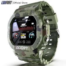 LOKMAT <b>Ocean Smart Watch Men</b> Fitness Tracker Blood Pressure ...