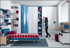girl bedroom furniture. Red Blue Beech White Furniture Teen Bedroom Inspiration Girl
