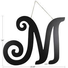 20 In Black M Script Letter