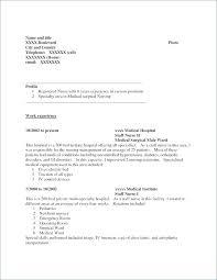 Medical Surgical Nurse Resume Samples Nursing Orlandomoving Co