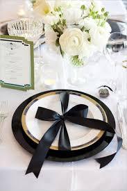 white table settings. Elegant Black And White Wedding Table Settings