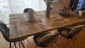pallet crate furniture. This Pallet/Crate Dining Table Features Mid-century Styled Legs And A Variety Of Pallet Crate Furniture