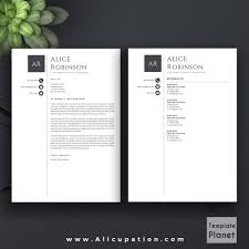 Modern Resume Template Cv Template Cover Letter References 1