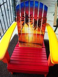 adirondack chairs on beach sunset. Modren Chairs Sunset Adirondack Chair Hand Painted And Chairs On Beach A