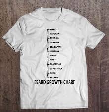 Beard Growth Chart Sweatshirt Beard Growth Chart T Shirts Teeherivar