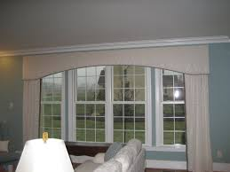 interesting window arched cornice board works beautifully on an oversized window intended cornice window treatments i
