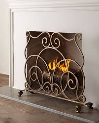 Unique fireplace screens Fire Lyrical Fireplace Screen Horchow Fireplace Screens Fireplace Mantels Fireplace Accessories Horchow