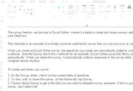 Customer Satisfaction Survey Template Excel Customer Survey Template Word Neerja Co