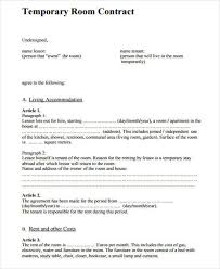lease contract template 6 room for rent contract samples templates pdf doc