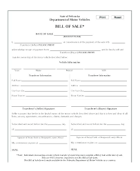 Automobile Bill Of Sale Form Bill Of Sale Contract Template Vehicle For Sale Template