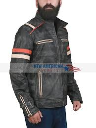 men s retro café racer leather jacket