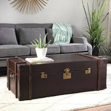 trunks as coffee tables brilliant vintage trunk coffee table journey vintage leather trunk coffee table