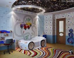quirky bedroom furniture. galaxy ceiling with white wall and quirky bed in kids bedroom furniture