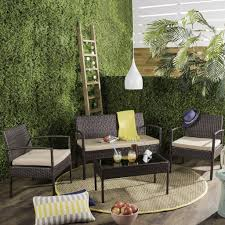 Wicker Living Room Sets Pat9001a Outdoor Home Furnishings Patio Sets 4 Piece