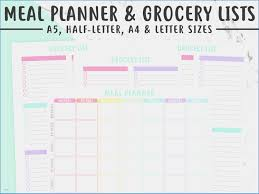 monthly meal planner template menu planner with grocery list template awesome monthly meal planner