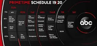 abc prime time schedule for 2019 2020