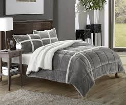 amazoncom chic home  piece chloe sherpa comforter set twin x