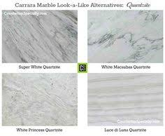 Small Picture Kitchen Countertop Options Quartz That Look Like Marble Carrara