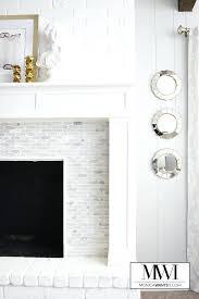 white tile fireplace white marble fireplace white
