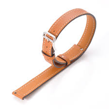 double wrap tour handmade leather watch strap band for pebble time round 14mm