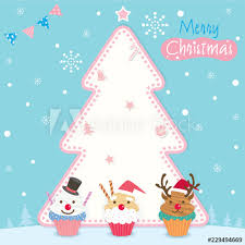 Illustration Vector Of Merry Christmas Background Design