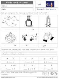 18 phase 5 worksheets to match each sound. Au Phonics Worksheets And Games Galactic Phonics