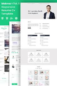 Makma Html5 Resume Template Landing Page Template 73880