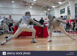 Notre Dame Abigail Nichols lunges against St Johns in Sabre at the St Stock  Photo - Alamy