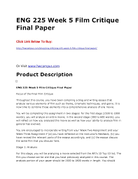 eng  week  film critique final paper eng  week  film critique final paper click link below to buy http