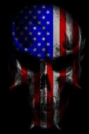 skull wallpaper american flag punisher