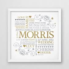 personalised family word art family name wall art family gift wedding gift  on personalised family name wall art with personalised family word art family name wall art family gift