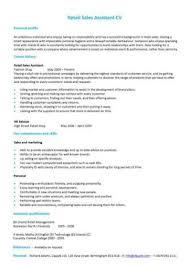 Boutique Owner Resume Retail Cv Template Sales Environment Sales Assistant Cv