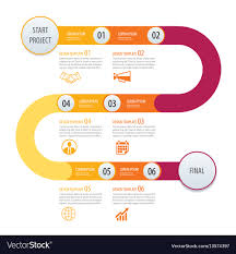 Timeline Template Infographic Timeline Template Business Concept Vector Image