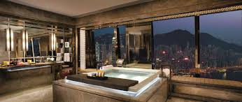Impressive Luxury Bathrooms Ritzcarlton Suite Victoria Harbour Intended Innovation Ideas