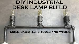 diy pipe lighting. DIY Desk Lamp Industrial Lighting With Edison Bulbs And Black Pipe Diy I
