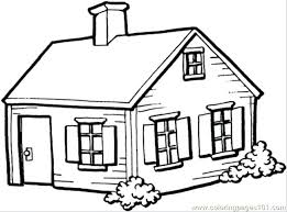 Coloring Pages Of A House House Coloring Pages Printable Coloring